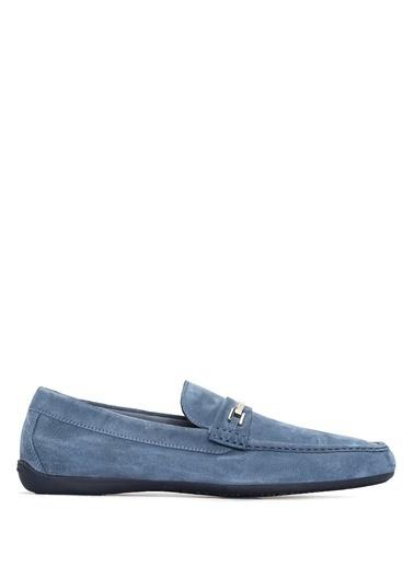 Moreschi %100 Deri Loafer Ayakkabı Mavi